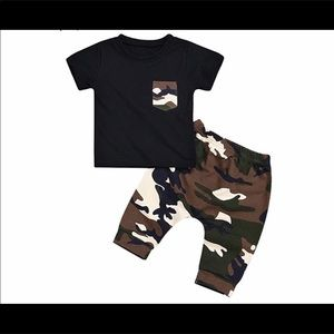 Other - NWT Baby boy 2 Piece joggers pants set 12-18m